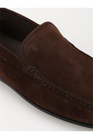 City Gommino dark brown suede loafers  TOD