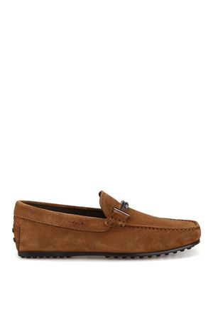 City Gommino double T brown loafers