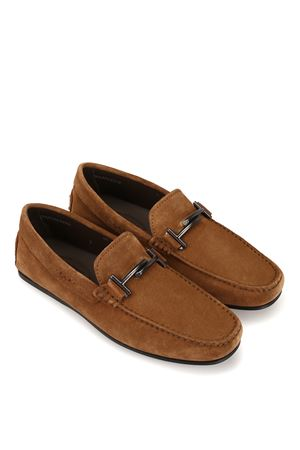 City Gommino double T brown loafers TOD