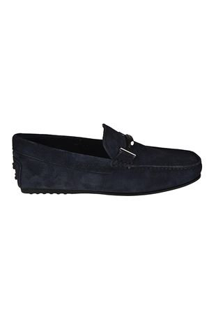 City Gommino blue suede loafers