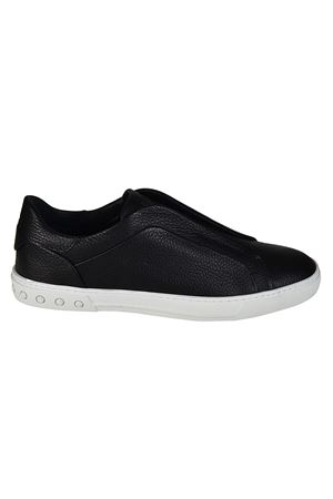 Hammered leather slip-ons TOD