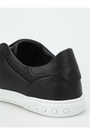 Hammered leather slip-ons