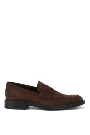 Rubber sole with pebbles suede loafers TOD