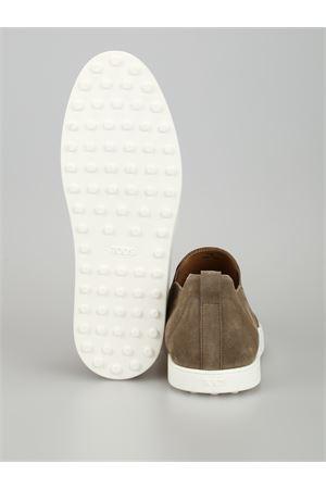 Dark Beige suede slip-on sneakers TOD