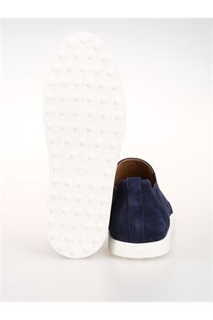Sneaker slip on scamosciate blu XXM52B0AW60RE0U820 TOD