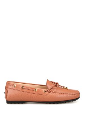 Textured leather loafers TOD