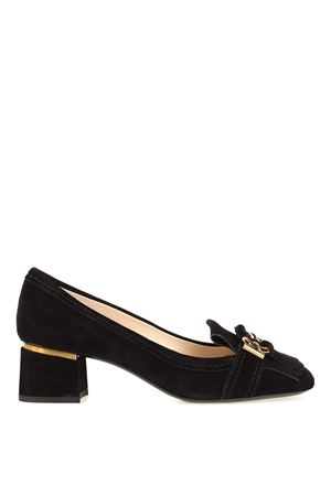 Fringed suede loafers 