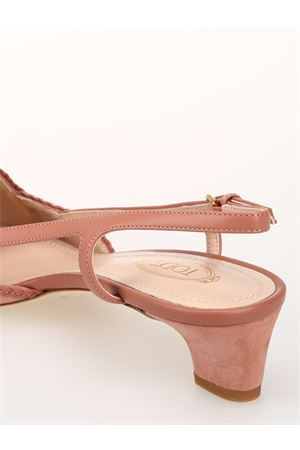 Slingback in pelle scamosciata XXW36B0AS90D8WM026 TOD