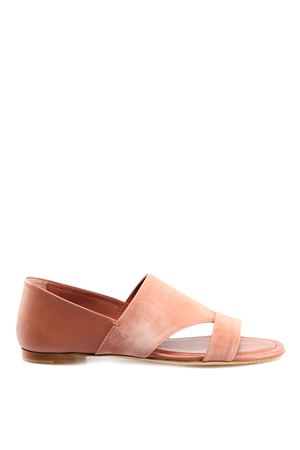 Pink suede and leather sandals XXW37B0AT70KPNM026 TOD
