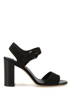 SANDALS IN BLACK SUEDE LEATHER TOD
