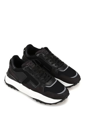 Leather and techno mesh sneakers  TOD