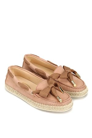 Raffia detail nubuck Gommini loafers