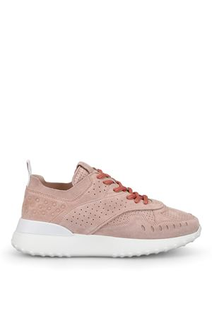 Powder pink suede sporty sneakers TOD