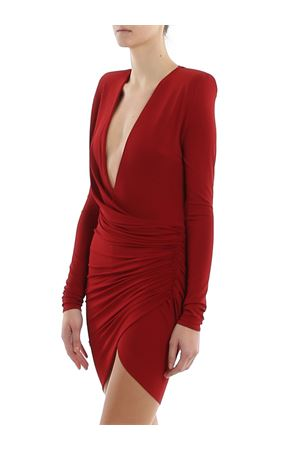 Knitted draped dress ALEXANDRE VAUTHIER | 11 | 201DR120201911029CURRANT