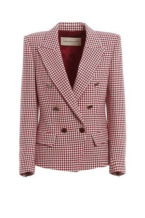 Houndstooth patterned double-breasted blazer ALEXANDRE VAUTHIER | 3 | 201JA802BIS02011205CHERRY