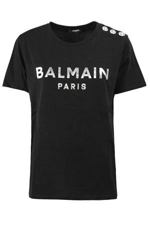 T-shirt nera in cotone TF01350I414EAC BALMAIN | 8 | TF01350I414EAC