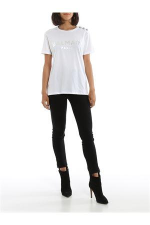 T-shirt bianca in cotone TF01350I414GAC BALMAIN | 8 | TF01350I414GAC