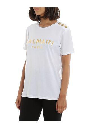 T-shirt bianca in cotone TF01350I414GAD BALMAIN | 8 | TF01350I414GAD