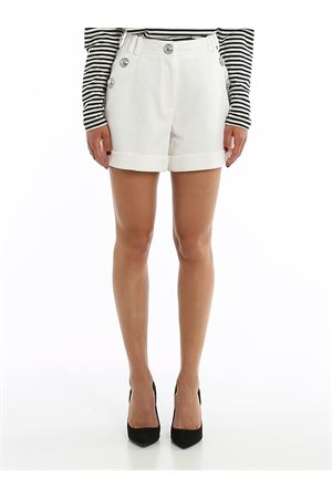 BUTTON DETAILED COTTON SHORTS BALMAIN | 30 | TF05010C2080FA