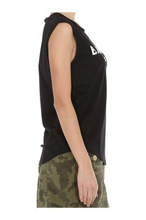 T-shirt nera in cotone con stampa logo Balmain bianco TF11000I386EAB BALMAIN | 8 | TF11000I386EAB