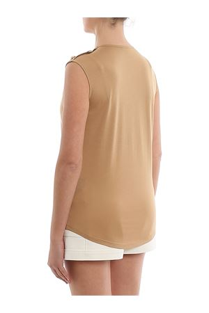 T-shirt in cotone con bottoni e logo TF11000I386GAV BALMAIN | 8 | TF11000I386GAV