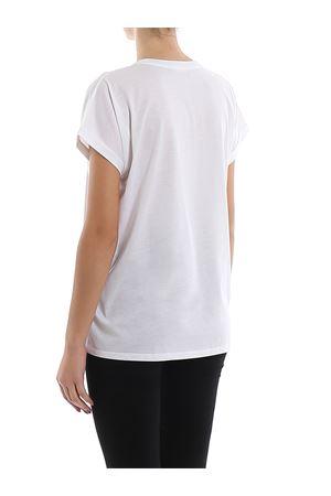 T-shirt bianca in cotone con logo sul petto TF11351I382GAB BALMAIN | 8 | TF11351I382GAB