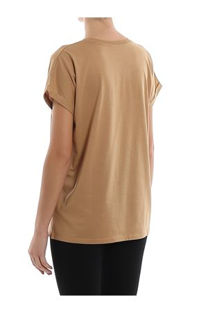 Camel cotton chest logo print T-shirt BALMAIN | 8 | TF11351I382GAV