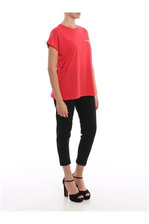 T-shirt rossa in cotone con logo sul petto TF11351I382OAG BALMAIN | 8 | TF11351I382OAG