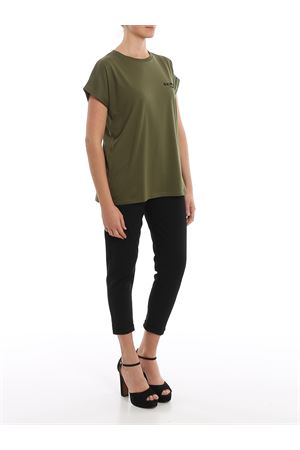 Green cotton chest logo print T-shirt BALMAIN | 8 | TF11351I382UBK