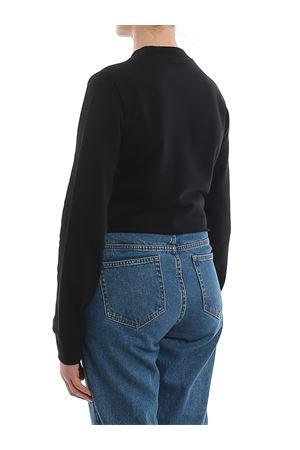 Black cotton cropped sweatshirt BALMAIN | -108764232 | TF13641I384EAB