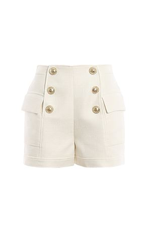 White high-rise buttoned shorts BALMAIN | 30 | TF15001V0900FA