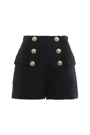 Shorts a vita alta neri con bottoni TF15001V0900PA BALMAIN | 30 | TF15001V0900PA