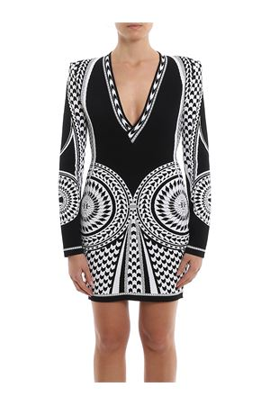 Two-tone geometrical knitted dress BALMAIN | 11 | TF16209K003EAB