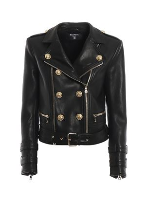 Gold-tone button leather jacket BALMAIN | 3 | TF18248L0140PA
