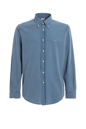 LOGO EMBROIDERY LIGHT BLUE COTTON SHIRT BROOKS BROTHERS | 6 | 00101712BLUE