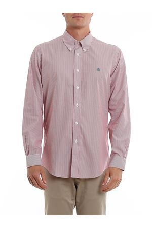 LOGO EMBROIDERY STRIPED COTTON SHIRT BROOKS BROTHERS | 6 | 00104345RED