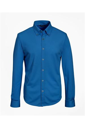 COTTON PIQUET BLUE SHIRT BROOKS BROTHERS | 6 | 00136110NAVY