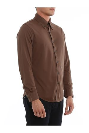 COTTON PIQUET SHIRT BROOKS BROTHERS | 6 | 00136117MEDIUMBROWN