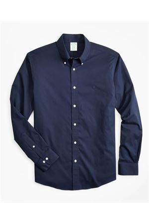 LOGO EMBROIDERY BLUE COTTON SHIRT BROOKS BROTHERS | 6 | 00160983NAVY