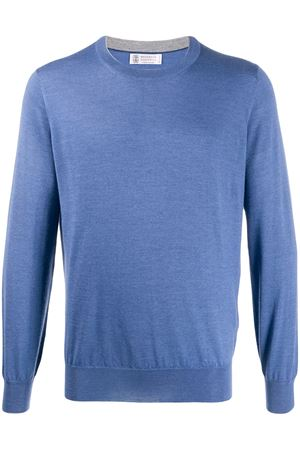 Crewneck sweater in cashmere and silk BRUNELLO CUCINELLI | 7 | M2300100CX856
