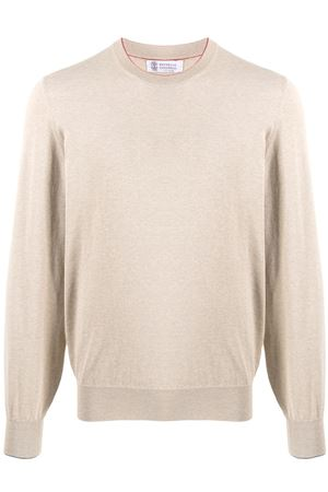 Crewneck cotton sweater BRUNELLO CUCINELLI | 7 | M2900100CV653