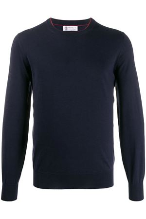 Crewneck cotton sweater BRUNELLO CUCINELLI | 7 | M2900100CV657