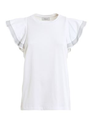 White Cotton T-shirt DONDUP | 8 | S821JF0243DZE3DD000