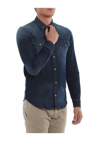 Worn denim shirt DONDUP | 6 | UC173DS0278UAG6DU800