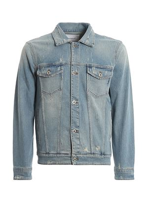 Trucker jacket in denim used DONDUP | 3 | UJ648DS0222UAH2DU800