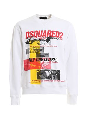 Kung Fu print cotton sweatshirt DSQUARED2 | -108764232 | S71GU0363S25042100