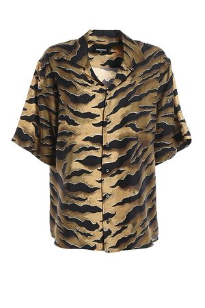 Printed silk oversized shirt DSQUARED2 | 6 | S72DL0648S52758002S