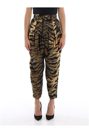 Printed silk high waisted loose trousers DSQUARED2 | 20000005 | S72KA0996S52758002S