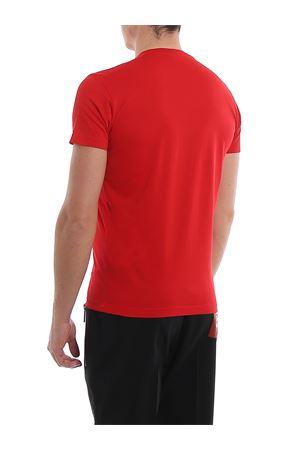 T-Shirt rosso in cotone con stampa del logo S74GD0635S22427307 DSQUARED2 | 8 | S74GD0635S22427307