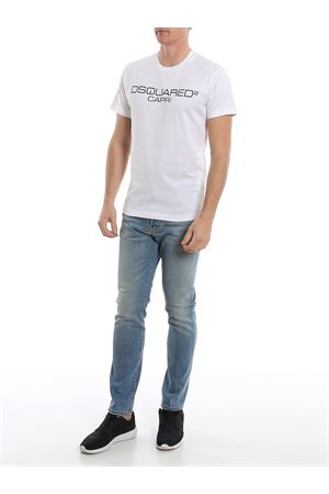 T-Shirt DSquared2 Capri bianca S74GD0643S22844100 DSQUARED2 | 8 | S74GD0643S22844100